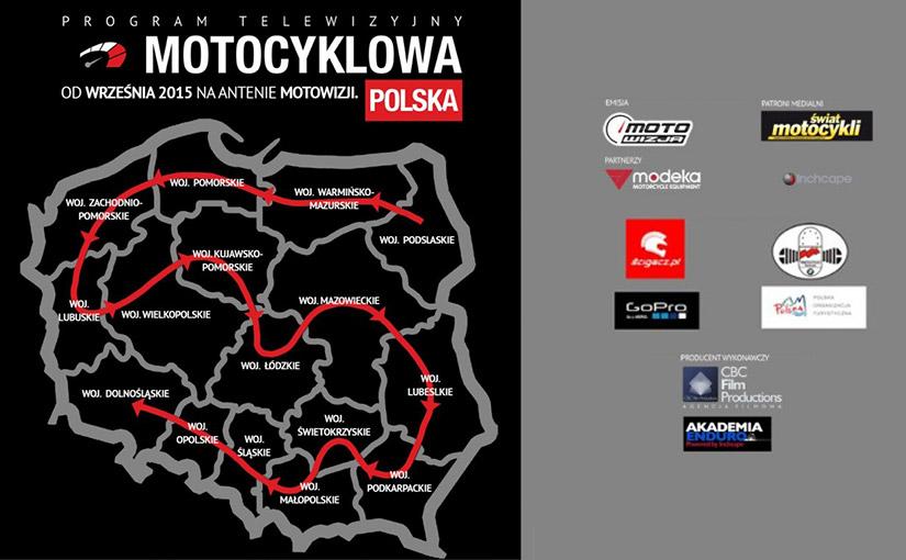 Plakat Motocyklowa Polska, odwiedzane województwa